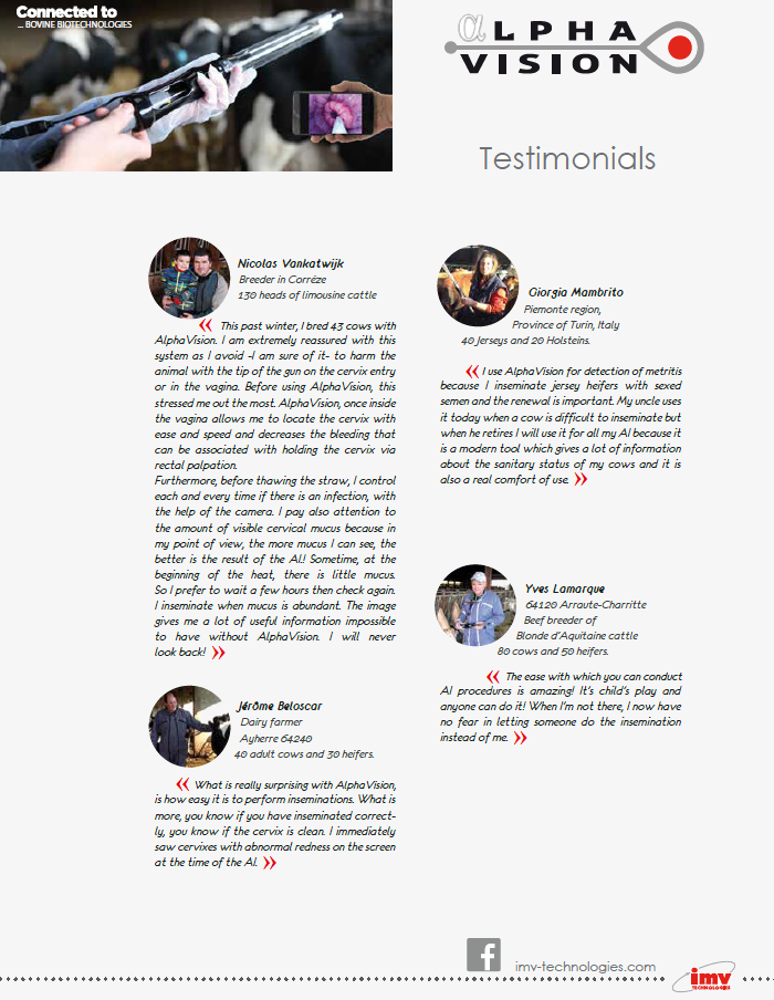 AlphaVision testimonials from France and Italy!