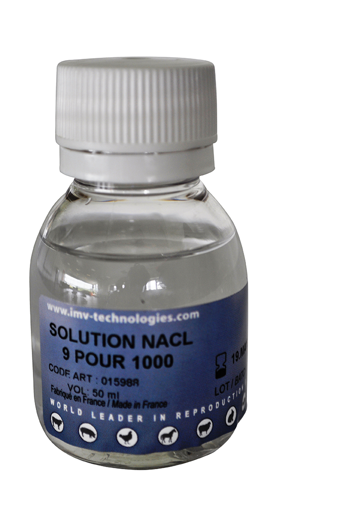 photo 9/1000 NaCl solution