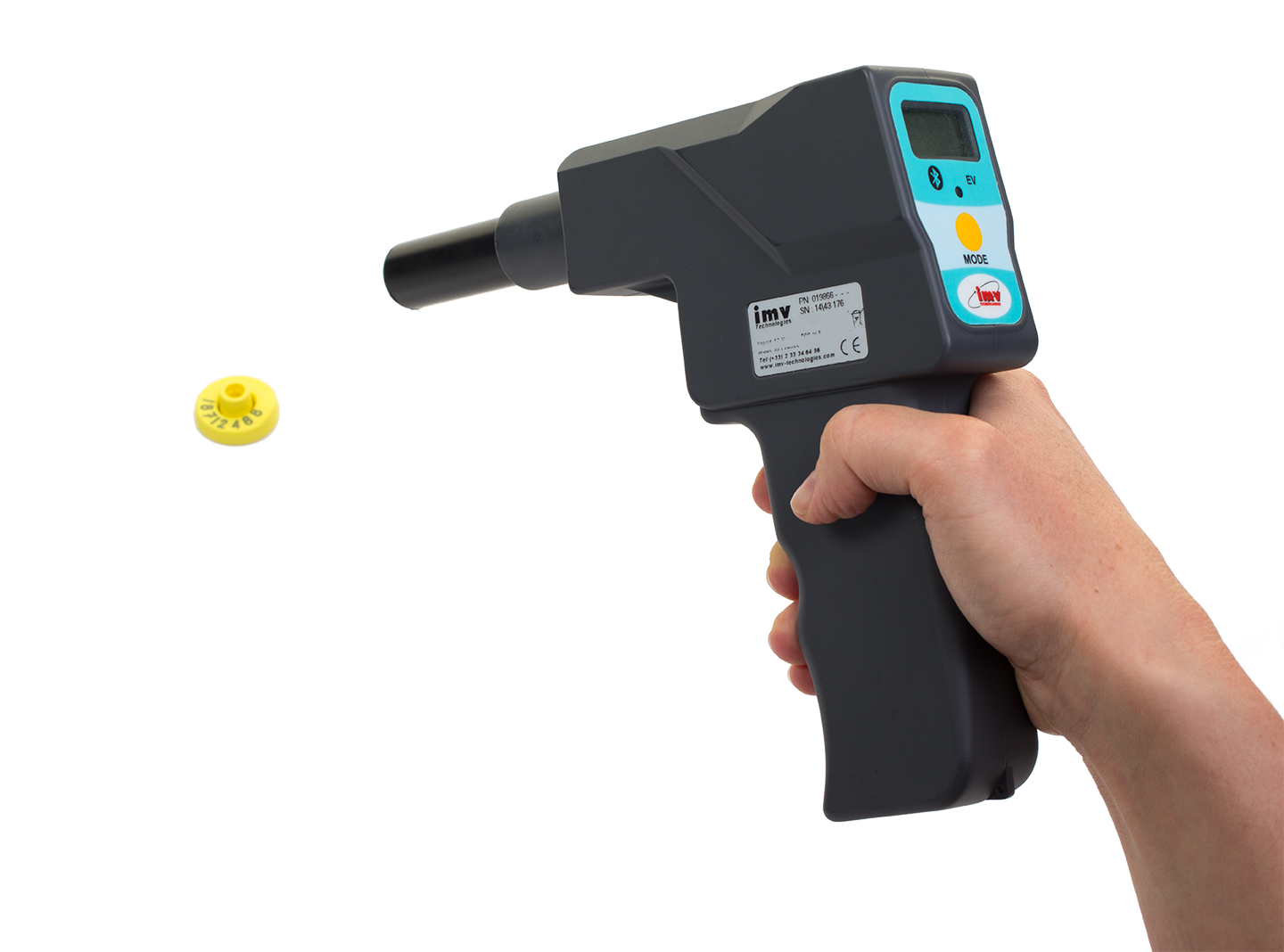 photo Chip reading gun with holster