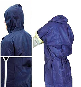 photo Blue non-woven polypropylene overall